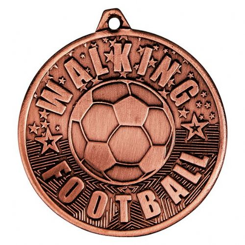 Cascade Walking Football Iron Medal Antique Bronze 50mm